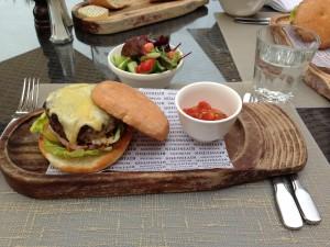 Rivington Burger Plate