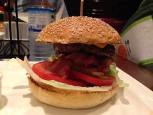 Double Decker Beef Burger Upclose