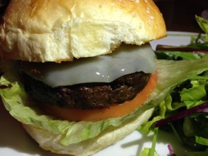 The Gramercy Wagyu Cheese Burger Close View