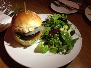 The Gramercy Wagyu Cheese Burger Plate