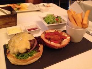 Cafe Belge Wagyu Burger Plate