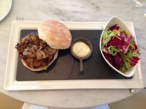 St Tropez Gourmet Burger Plate Top View