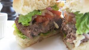 Cafe Rouge Burger Cut