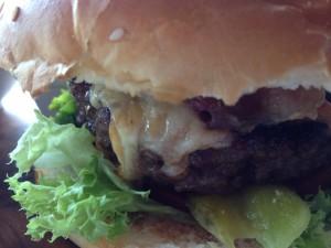 Real Madrid Cafe Burger Close Up