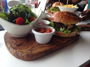 Real Madrid Cafe Burger Full View