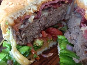 Q43 Burger Inside Close Up View