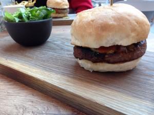 Taste Kitchen Burger Side View