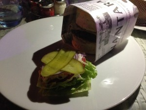 The Beach House Burger Plate Wrapped